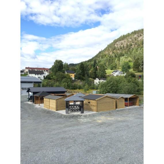 TOMT PÅ LAGER - Gazebos Rustic Flat Roof