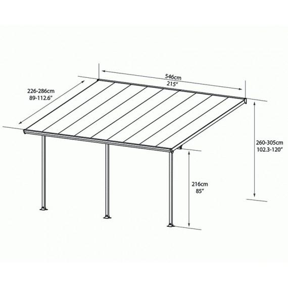 Terrassetak i enkelt byggesett. Med verandatak kan du kose deg ute hele året på verandaen